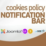 Cookies Policy Notification Bar Pro v.3.8.1